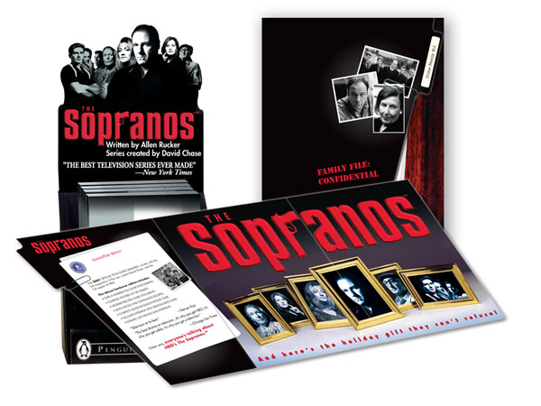 Sopranos display and brochure